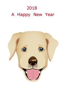 2018 Year Card Yellow Labrador