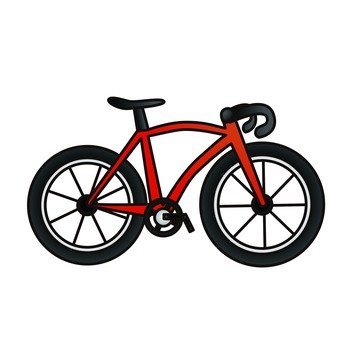 Bicycle racing bike