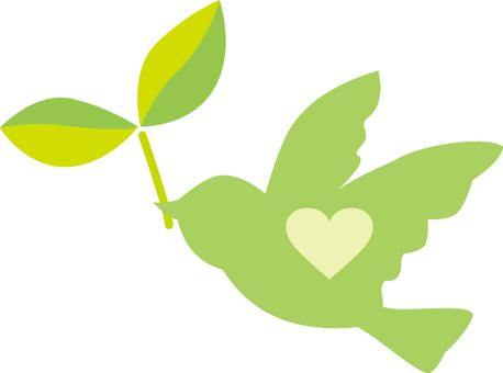 插圖免費Futaba鳥和平