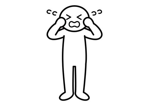 【お題】棒人間-大泣き