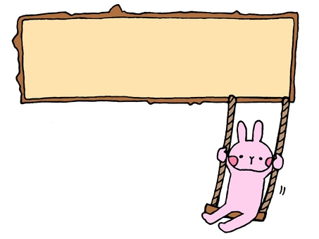 Rabbit frame and swing 1 of 2