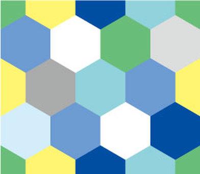 六角形壁紙(藍色系列)