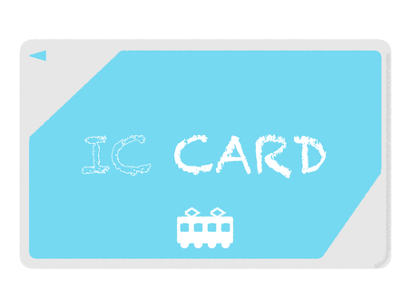IC card periodic electronic payment Blue