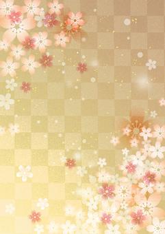 Sakura_Gold lattice_Vertical type 2427