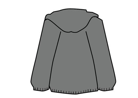 Gray hoodie back