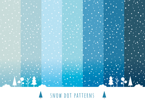 Winter background pattern 1 Punti di neve