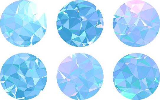Polygon circle - light blue