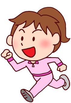 Illustration of a woman who jogs