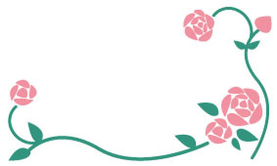 Rose-Message card 1