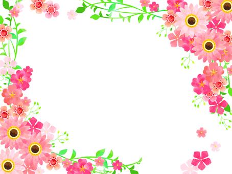 ピンクの春の花04