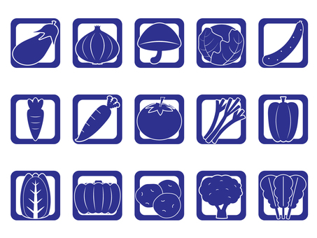 Vegetable icon _ blue