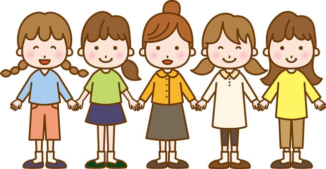 5 girls