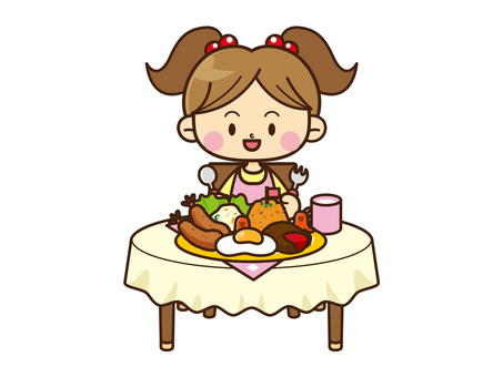 Family Illustration _ meal 03