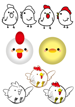 Various roosters