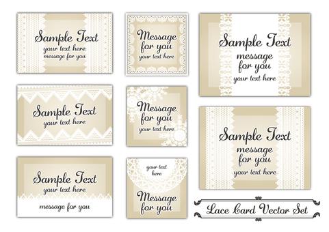 Lace card set