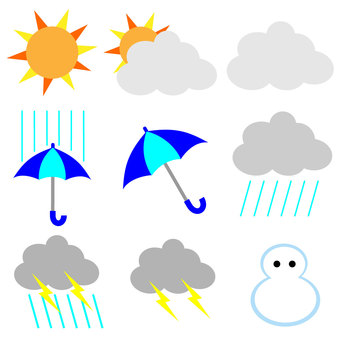 Weather icon mark material