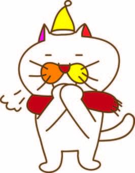 Amusing cat Tachiko and winter