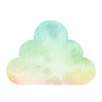 Pastel color material alone cloud