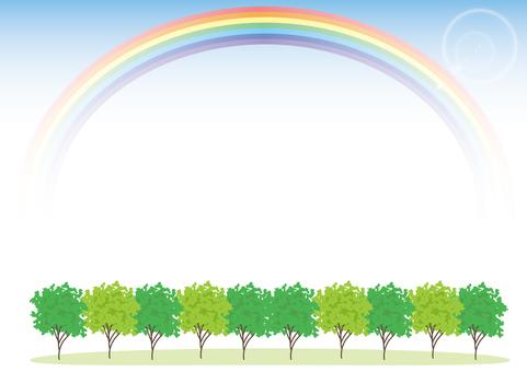 Namiki and Rainbow · Horizontal