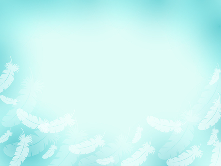 Light blue feather frame 5