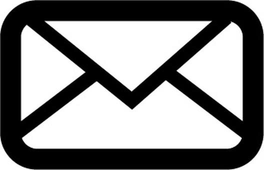 아이콘 편지 흑백