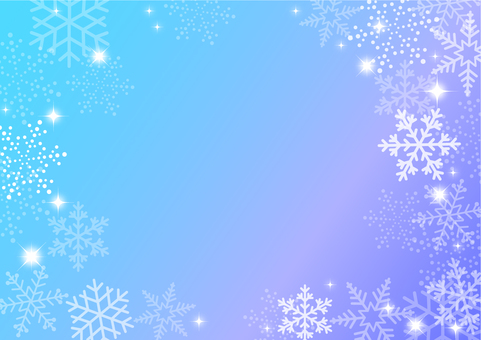Snow background blue gradation