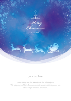 Winter background frame 032 Xmas watercolor