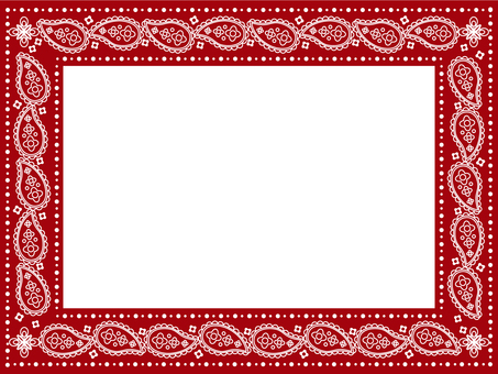 Paisley frame red
