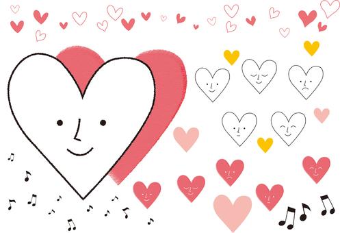 Heart _ Musical note _ Icon _ Handwritten