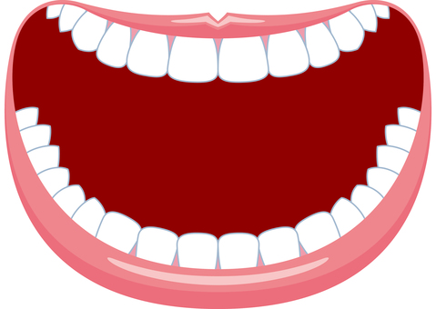 Mouth frame smile big laughter
