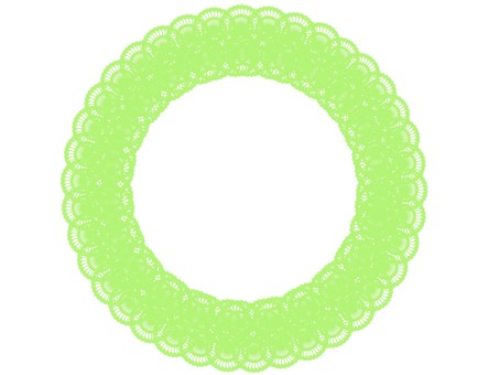 Lace frame frame yellow green