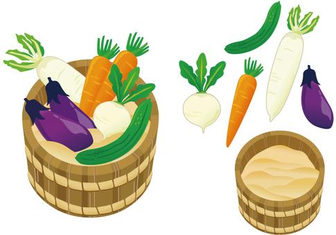 Vegetable and tofu floor