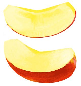 자른 사과 소재