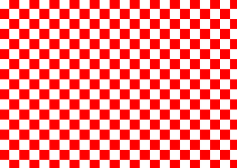 Checkered pattern (red and white)