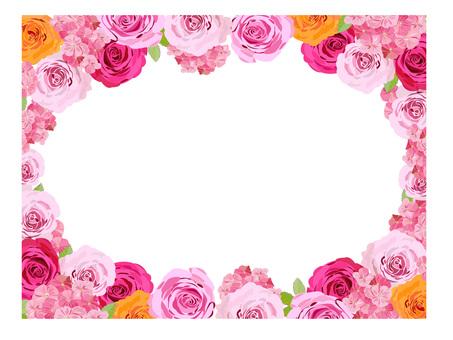 花のフレーム バラ2