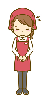 Woman (salesman): B_ bow 02 FS