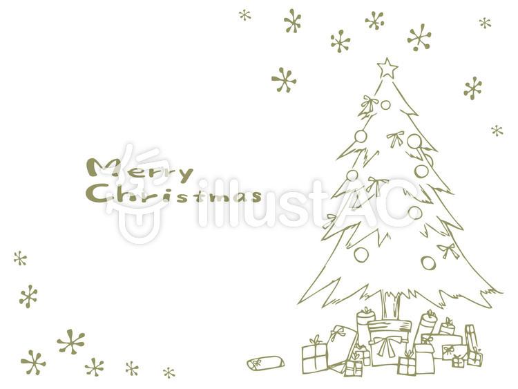 手書き風クリスマスカード白イラスト No 無料イラストなら イラストac