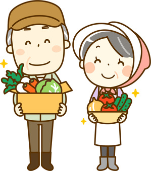 Farmer's elderly couple