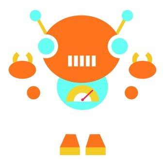 Orange mushrod robot