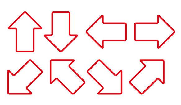 Red frame arrow set