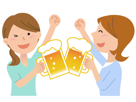 60611. Girls, beer garden