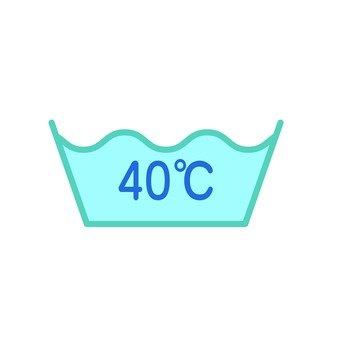 40 ℃ 표시