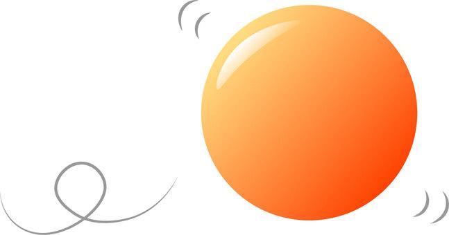 Rolling ball (Orange)