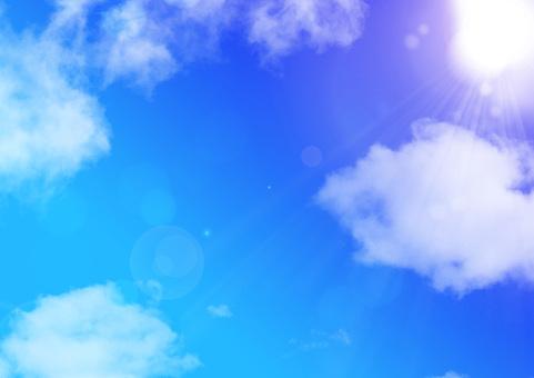 Sunlight in the blue sky