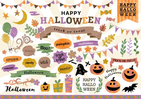Seasonal material 091 Halloween frame set