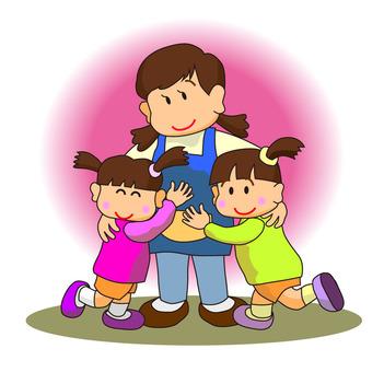 保育園 保育士さんと子ども