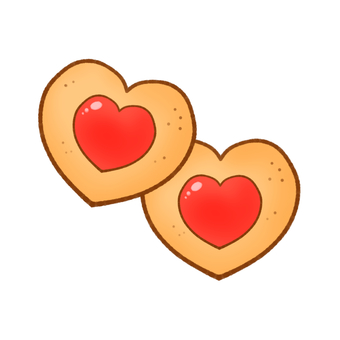 Cookie (heart-shaped jam)