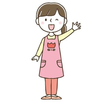 Cute hand drawn female nurse / whole body