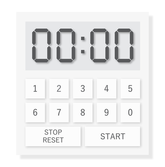 Illustration of a realistic kitchen timer (white)