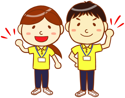 "Polo shirt male and female ""yellow"""